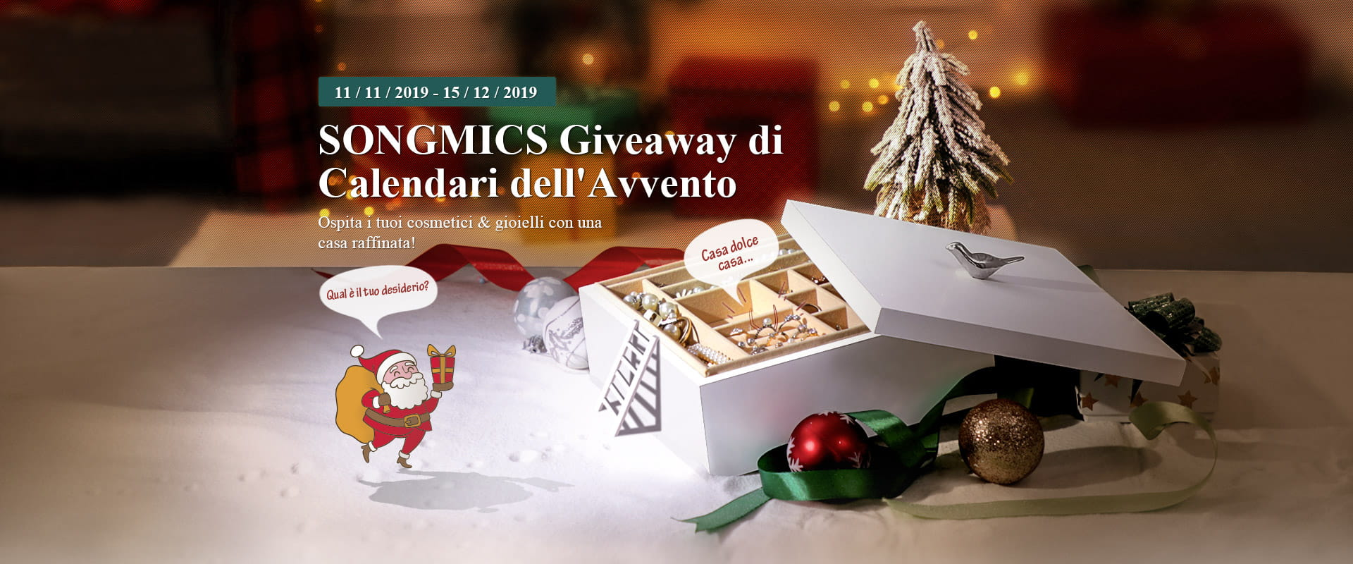 SONGMICS Giveaway di Calendari dell'Avvento